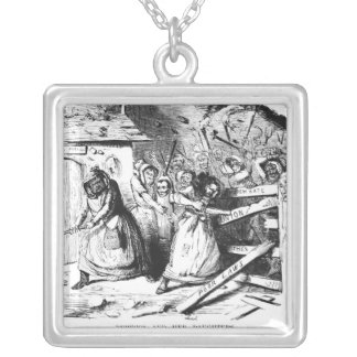 Rebecca and her Daughters Silver Plated Necklace