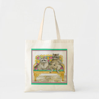Rebecca and Horace Pet Portrait Tote Budget Tote Bag