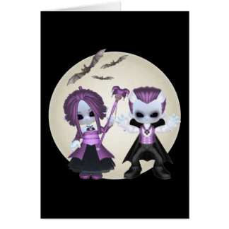 Rebecca And Will Little Gothics Greeting Card