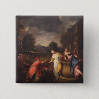 Rebecca at the Well 15 Cm Square Badge