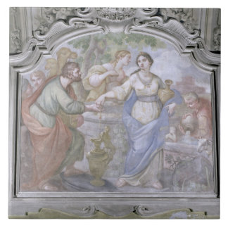 Rebecca at the Well, from the Refectory, 1753-54 ( Large Square Tile