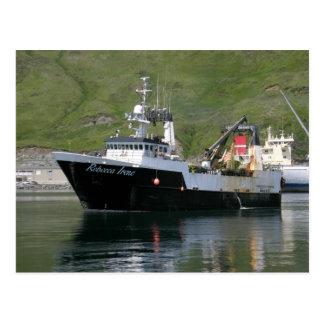 Rebecca Irene, Factory Trawler in Dutch Harbor, AK Postcard