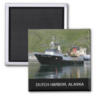 Rebecca Irene, Factory Trawler in Dutch Harbor, AK Square Magnet