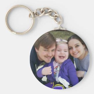 Rebecca Mom and Dad Keychain