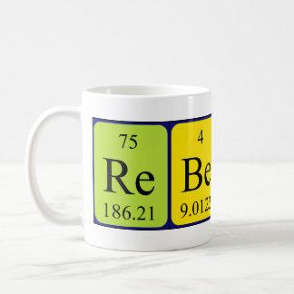 Rebecca periodic table name mug