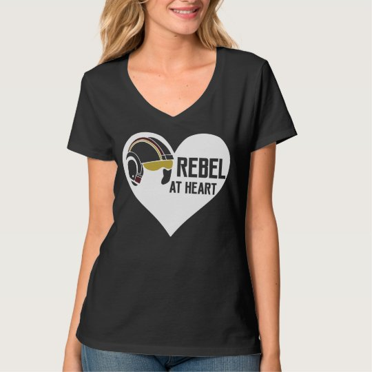 Rebel at Heart Women's Hanes Nano V-Neck T-Shirt