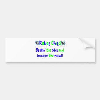 Rebel Child in Blues & Greens Bumper Sticker