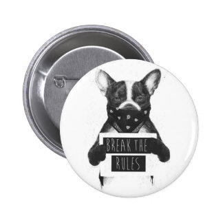 Rebel dog 6 cm round badge
