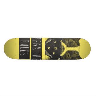 Rebel dog (yellow) 21.3 cm mini skateboard deck