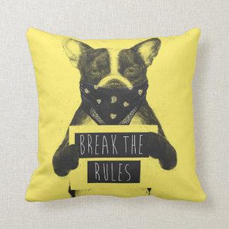 Rebel dog (yellow) cushion