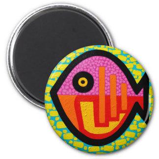 Rebel Fish 6 Cm Round Magnet