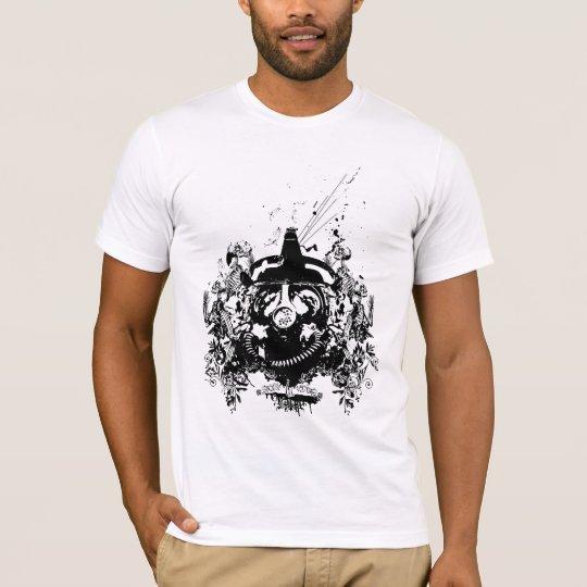 Rebel Gasmask Skull T Shirt