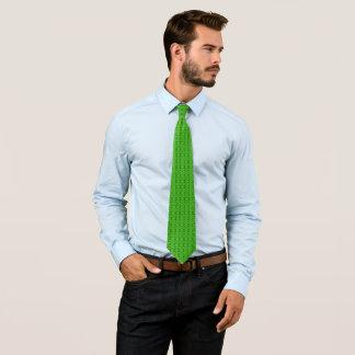 Rebel Lime Green Ornate Diamond Pattern Tie