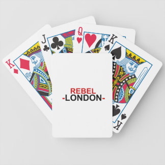 Rebel London Bicycle playing cards