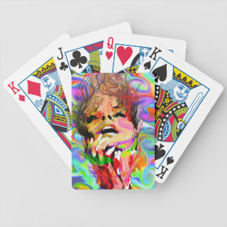 Rebel Psychedelic Girl Cards