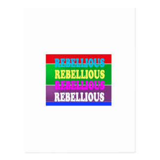 Rebel Rebellion REBELLIOUS Expression LOWPRICE GIF Postcard