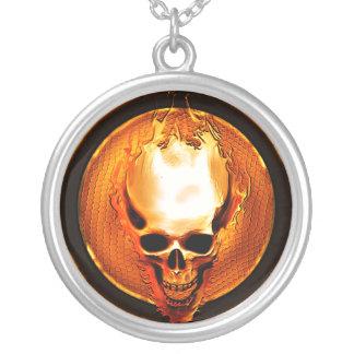 rebel riot skull necklace