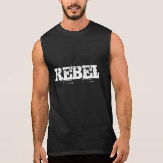 REBEL sleeveless typography tank top for men
