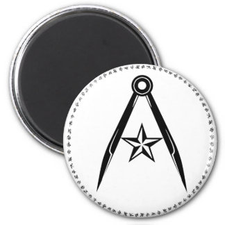 Rebel Terran compass and star Magnet (White)