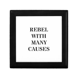 Rebel With Many Causes Small Square Gift Box