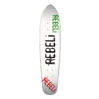 "REBELi ""Cali Style"" Black/Red/Green Longboard Skateboard"