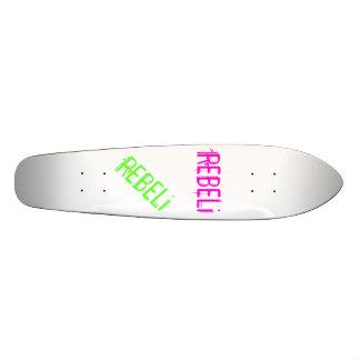 """REBELi """"Cali Style"""" Pink/Green Longboard Custom Skate Board"""