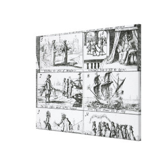 Rebellion, the effect of monasteries canvas print