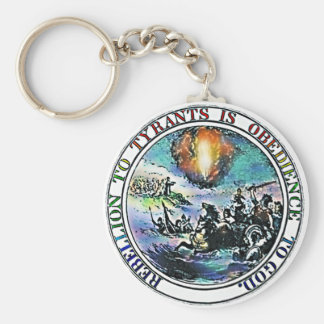Rebellion to Tyrants is Obedience to God KeyChain
