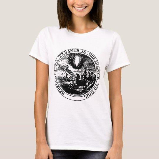 Rebellion to Tyrants Posterised black / white T-Shirt