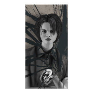 Rebellious Spray Paint Graffiti Artist Digital Art Photo Card Template