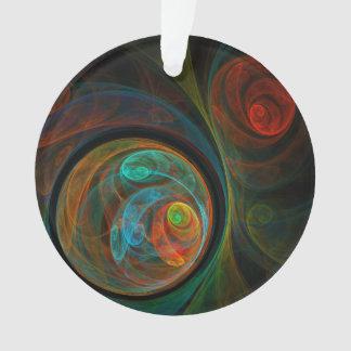 Rebirth Blue Abstract Art Acrylic Circle Ornament