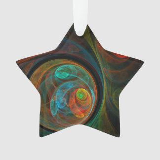 Rebirth Blue Abstract Art Acrylic Star Ornament