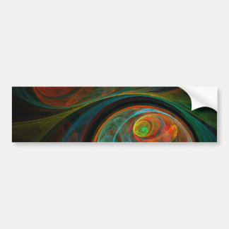 Rebirth Blue Abstract Art Bumper Sticker