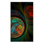 Rebirth Blue Abstract Art Business Card