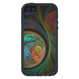 Rebirth Blue Abstract Art Case For The iPhone 5