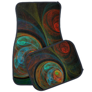 Rebirth Blue Abstract Art Floor Mat