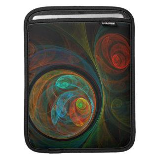 Rebirth Blue Abstract Art iPad Sleeve