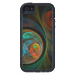 Rebirth Blue Abstract Art iPhone 5 Cover
