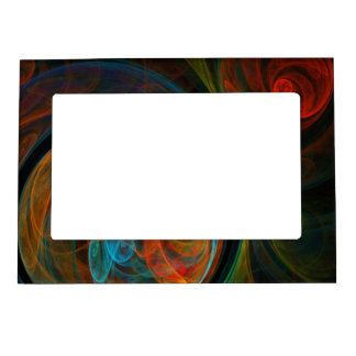 Rebirth Blue Abstract Art Magnetic Picture Frame