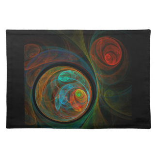 Rebirth Blue Abstract Art Placemat