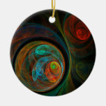 Rebirth Blue Abstract Art Round Ornament