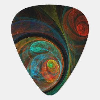 Rebirth Blue Abstract Art Standard Guitar Plectrum