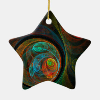 Rebirth Blue Abstract Art Star Ornament