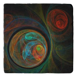 Rebirth Blue Abstract Art Stone Trivet