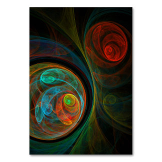 Rebirth Blue Abstract Art Table Card