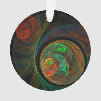 Rebirth Green Abstract Art Acrylic Circle Ornament