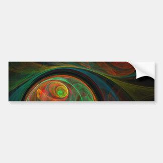 Rebirth Green Abstract Art Bumper Sticker