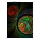 Rebirth Green Abstract Art Greeting Card