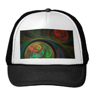 Rebirth Green Abstract Art Hat