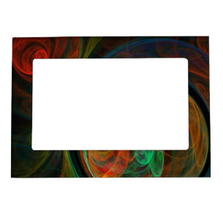 Rebirth Green Abstract Art Magnetic Photo Frames
